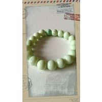 Glass Pearl Bracelet Mint Green