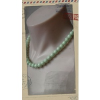 Glass Pearl Necklace Mint