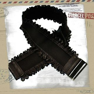 Lacey Edge Stretch Belt Black