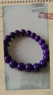 Glass Pearl Bracelet Purple