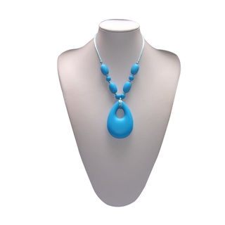 Mummy and Baby - Oval Pendant Sky Blue