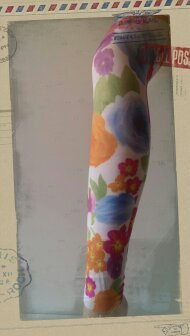 Floral Footless Tights