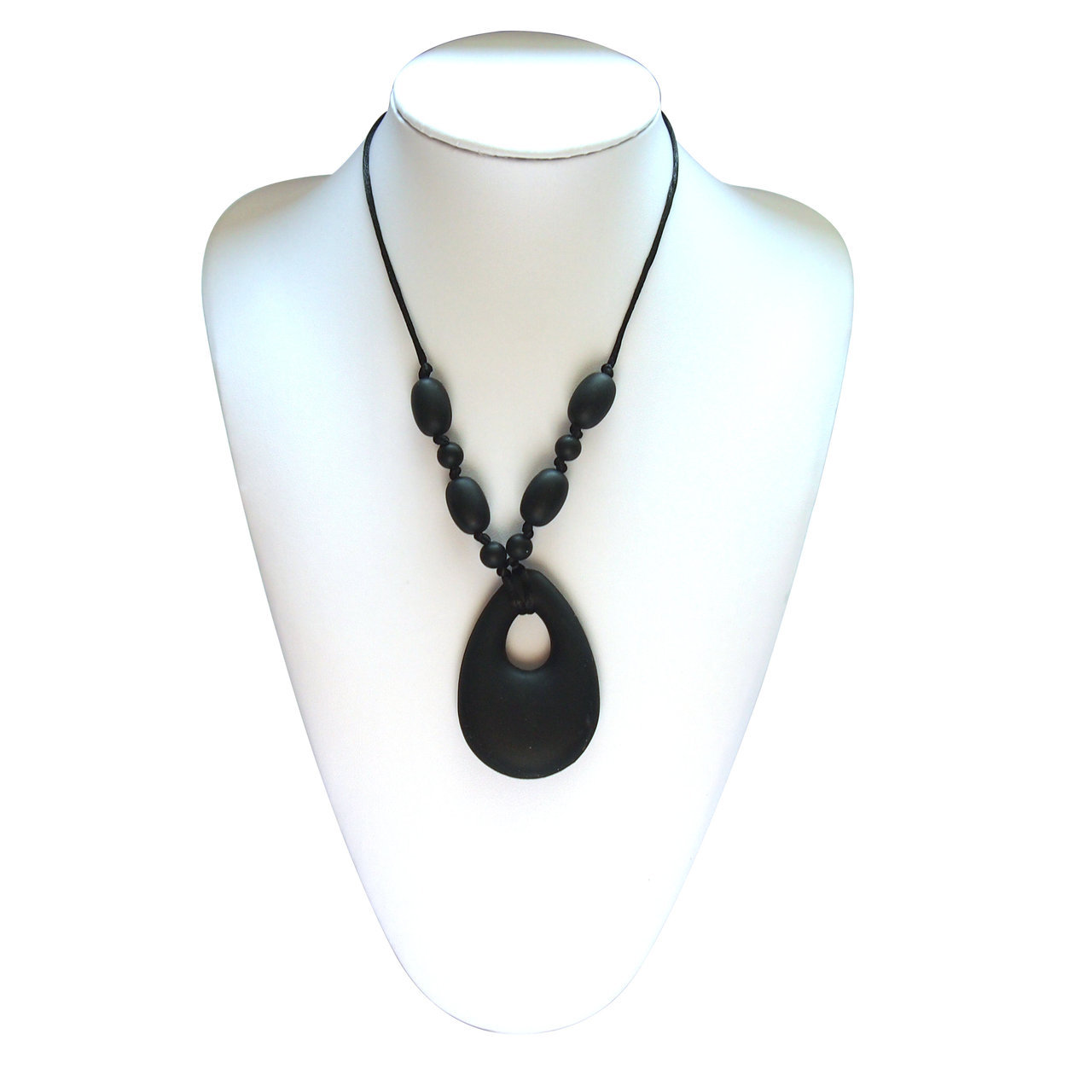 Mummy and Baby - Oval Pendant Smokey Black